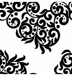 Black and white background lace texture vector image vector image