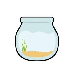 Bowl fish pet life marine aquatic swim icon vector