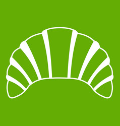 Croissant icon green vector