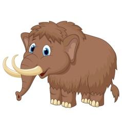 Cute mammooth cartoon vector image