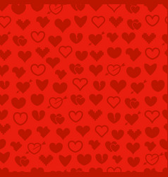 different abstract hearts seamless background vector image vector image