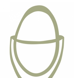 Egg cup drawing vector