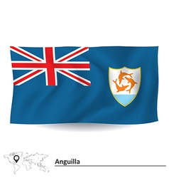 Flag of Anguilla vector image vector image