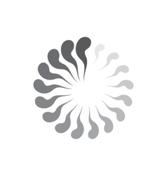 Geometric circle of abstract waves icon vector