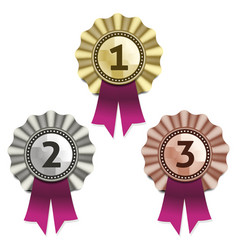 Gold silver and bronze awards eps 10 vector image