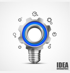 lighting gear creative idea vector image