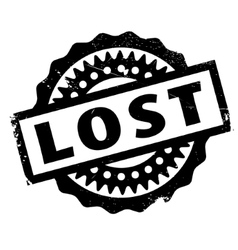 Lost rubber stamp vector
