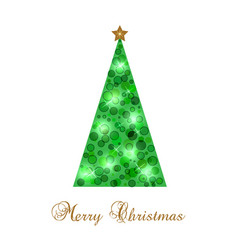 New year s card with christmas tree vector