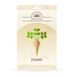 pack of parsnip seeds icon vector image vector image