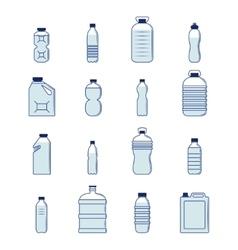Plastic bottle set vector