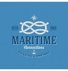 Retro navy trading company label or logo vector