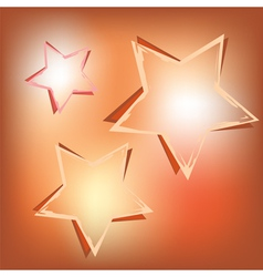 stars on shining background vector image