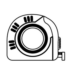 tape measure tool icon vector image vector image