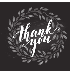 Thank You Card chalk drawing on the blackboard vector image vector image