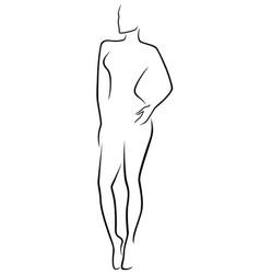 Abstract slim human body vector