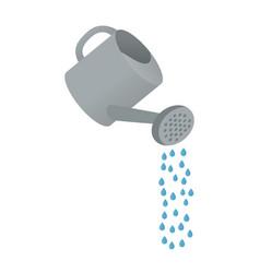 Cartoon watering can vector