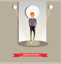 flat of male model in casual vector image