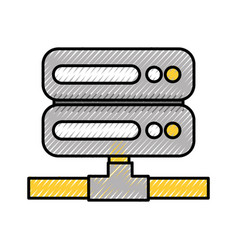 server data center icon vector image
