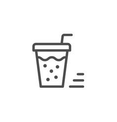 Drink line icon vector