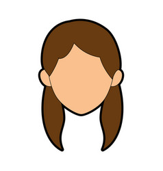 Isolated young woman face vector