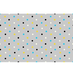 Geometric seamless pattern background grungy polka vector
