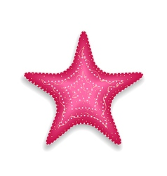 Pink starfish isolated on white background vector