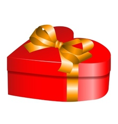 Heart gift vector