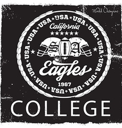 College emblem design vector