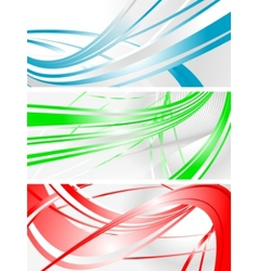 Vibrant banners vector