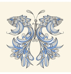 concept butterfly vector image