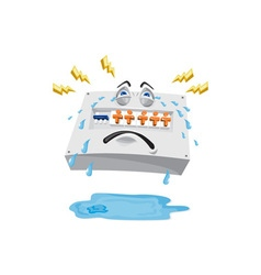 Switchboard crying tears cartoon vector