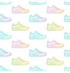 Seamless pattern made of sneakers vector