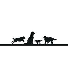 Dog line vector