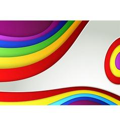 Abstract colorful rainbow wave banner vector image vector image