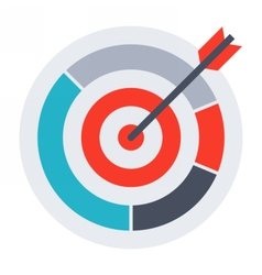 Arrow in archery target vector