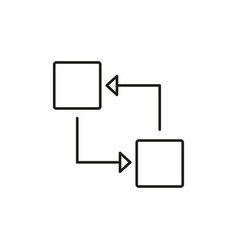 blocks transfer icon vector image