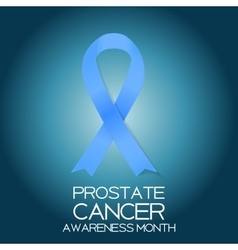Blue ribbon symbol of world prostate cancer vector
