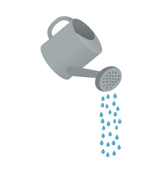 cartoon watering can vector image vector image