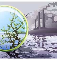 Ecological glass vector image vector image