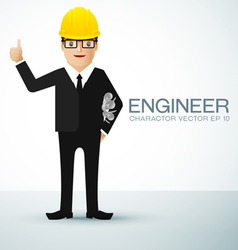 engineer charactor vector image vector image