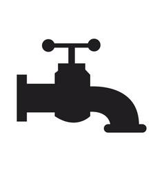 faucet handle valve hygiene water symbol vector image