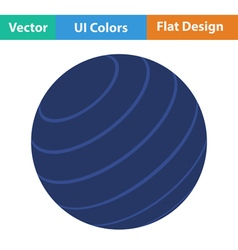Flat design icon of fitness rubber ball vector