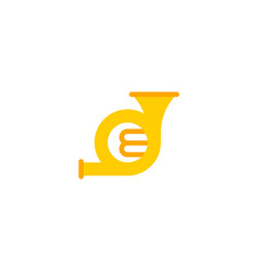 Flat icon french horn element vector