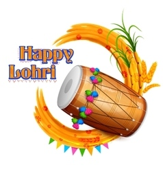 Happy Lohri background vector image vector image