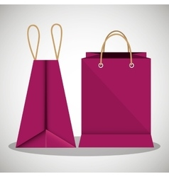 icon bag fuchsia shop paper design vector image vector image