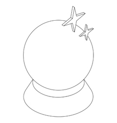 Magic ball icon isometric 3d style vector image