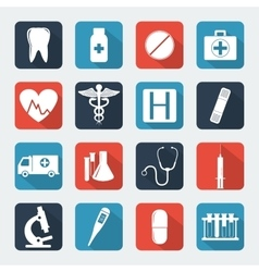 Medical icons set Healthcare icons vector image