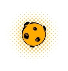 Moon icon comics style vector image