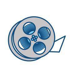 movie reel equipment vector image vector image