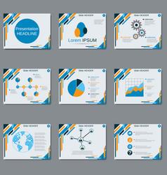 professional business presentation slide show vector image vector image